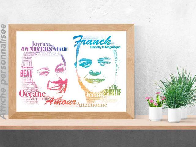 Image Portrait typographique de couple